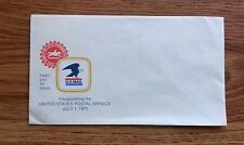 FIRST DAY ISSUE ENVELOPE INAUGURATION THE UNITED STATES POSTAL SERVICE 7/1/1971