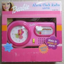 BARBIE ALARM CLOCK RADIO AM/FM  MATTEL IMPORT