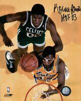 Robert Parish Signed Autographed 8X10 Photo Celtics Overhead vs. Lakers w/COA