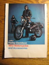 1973 Harley-Davidson Motorcycle & Accessories Brochure Sportster FLH SS250