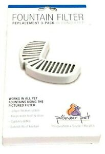 Pioneer Pet Fountain Filter Replacement 3-Pack #3002 Dog Cat