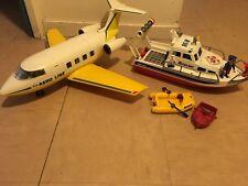 Lot PLAYMOBIL Avion+ Bateau Avec Personnages