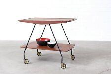 50s60s Teak Beistelltisch Tisch Table Trolley Danish Design Mid Century Vintage
