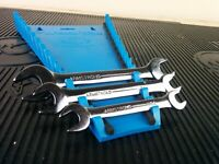 """#ak032  Armstrong Tools USA 3pc SAE Double Open End Wrench Set 3/8"""" - 11/16"""""""
