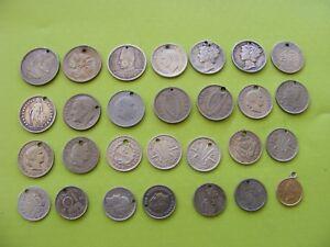 (2)VARIOUS VINTAGE COINS UK SPANISH FRENCH USA CANADIAN NEDERLAND AUSTRALIAN