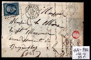 Losange 2914 sur NAPOLÉON 14A sur Lettre = Cote 55 € / Lot Classique France