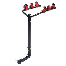 4 Bike Carrier Trailer Hitch Bicycle Car & Truck Racks SUV Van RV Auto Black&Red