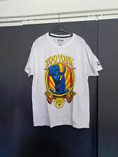 Herren T- Shirt,ZooYork, Größe L, weiß mit Brustdruck, gebraucht
