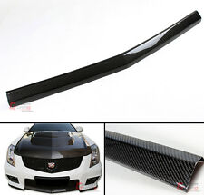 CARBON FIBER FRONT BUMPER CENTER LIP SPOILER FOR 2010-15 CADILLAC CTS-V 2D COUPE