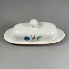 """Stangl Handpainted Pottery """"Bachelors Button"""" Covered Butter Dish"""