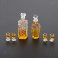 1/12 Puppenhaus Miniatur Zubehör Whisky Weinflasche und Tassen Spielzeug