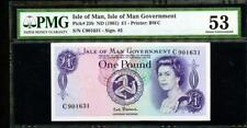 *Nd (1972) Isle Of Man, Isle Of Man Government 1 Pound Pck #29a Pmg 53 Lqqk!
