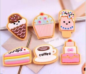 20pcs 25-28mm Ice cream cake Raw Material Pastel Resin Cabochons DIY Fitting