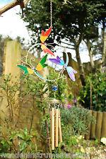 Wind Chimes con libellule colorate in metallo e vetro Chimes GIARDINO MOBILI