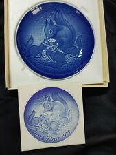 """Bing & Grondahl B&G 1977 Squirrel and Babies Mothers Day Mors Dag Plate 6"""""""
