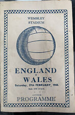 More details for england v wales pirate programme 1943