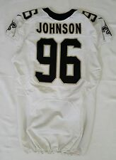 #96 Tom Johnson Authentic Nike Player Worn Jersey from New Orleans Saints