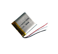 3.7V 400 mAh Rechargeable Polymer Lithium cell 3-wire 503030 for  GPS MP4 reader