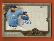 KELVIN HERRERA - 2017 Topps Museum Collection Archival Autograph #50/50 - Royals