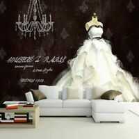 Clothing Background Decorative Wallpaper Hand Painted Wedding Dress Mural Decors
