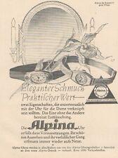 Y6528 ALPINA Uhren -  Pubblicità d'epoca - 1927 Old advertising