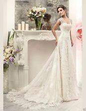 Custom Hot Lace White/Ivory Wedding Dress Bridal Gown Size 4 6 8 10 12 14 16 18+
