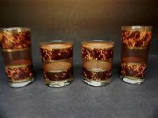 4 pcs of Barware Glasses Tortoise signed Georges Briard  ..