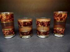4 pcs of Barware Glasses Tortoise signed Georges Briard  ..