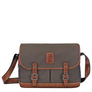 LONGCHAMP Mens Canvas Leather BOXFORD CROSSBODY BAG