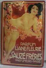 Blechschild Sauzé Frères Parfum Liane Fleurie Parfumeurs Paris Schild retro Deko