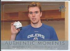 Connor McDavid  16/17 SP Authentic  #106 Authentic Moments - First NHL Hat Trick