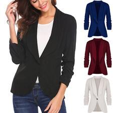 Women OL Style One Button Slim Short Top Business Blazer Slim Suit Formal Coat