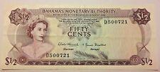 BAHAMAS MONETARY AUTHORITY 50 CENTS 1968