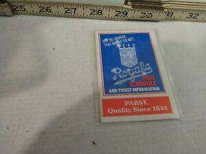 MLB BASEBALL 1980 KANSAS CITY ROYALS pocket schedule Pabst