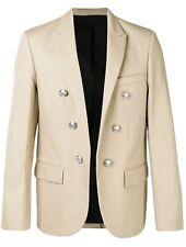 Balmain Blazer Mens Beige Embellished Jacket Size 54