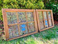 2 - 24 x 19 Vintage Window sash old 6 pane From 1960s Arts & Crafts