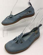 CAMPER Womens Blue Leather Ballet Flats Flower Cutout Eur 38 US 8