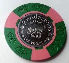 $25 Las Vegas Rendezvous Casino Chip - Coin Inlay