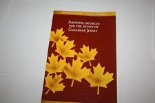 A guide to sources for the study of CANADIAN JEWRY MUST ENGLISH FRENCH