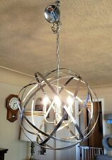 Capital Lighting 4234BN Axis Pendant Brushed Nickel Orb Chandelier