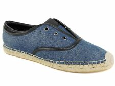 Elie Tahari Women's Mako Espadrille Slip-On Oxfords Denim Blue/Black Size EU 39M