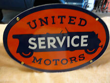 UNITED SERVICE MOTORS SIGN PORCELAIN