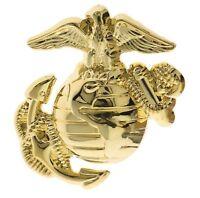 USMC US Marines Globe & Anchor Left Gold Tone Hat or Lapel Pin JH14128 D153