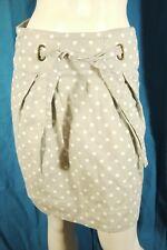 ESSENTIEL ANTWERP Taille 36 Superbe jupe doublée grise et blanche coton lin