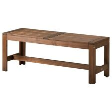 IKEA Solid Acacia Hardwood Timber Wood Outdoor Garden Bench Seat Patio Chair