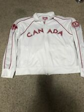 Woman's Roots Brand LS White & Red LS Canada Olympic Jacket Sz: L
