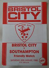 Bristol City v Southampton Friendly 1988
