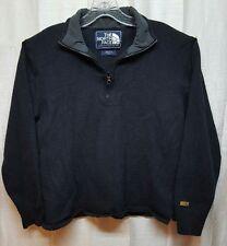 THE NORTH FACE Thin Black 1/4 zip Fleece ski Jacket Medium Fall 12 A72H A307
