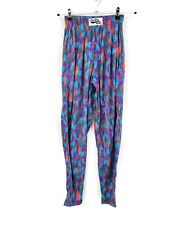 Vtg 90s Nwot California CraZee Wear Pants Mens Small Aqua Purple Gym Baggy