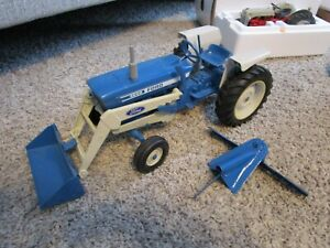 Ford New Holland Farm Toy Tractor Used 4600 Custom Loader Blade One of a Kind